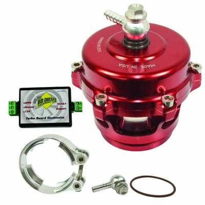 Turbos & Twin Turbo Kits - Wastegates - BD Diesel - BD Diesel Turbo Guard Kit - Aluminum Adapter / Red Valve 1047250AR