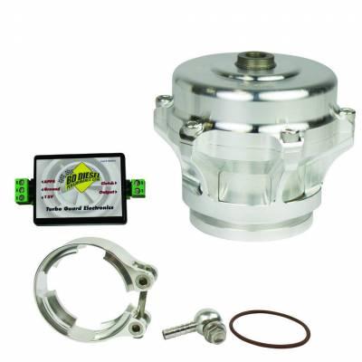 Turbos & Twin Turbo Kits - Wastegates - BD Diesel - BD Diesel Turbo Guard Kit - Aluminum Adapter / Silver Valve 1047250AS