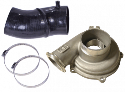 Turbos & Twin Turbo Kits - Turbo Piping - ATS Diesel - Ported Compressor Housing w/4-inch boot 99.5-03 7.3