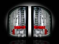 Lighting - Tail Lights - Recon Lighting - Chevy Silverado 07-13 1500 (2nd GEN Single-Wheel & 07-14 Dually) & GMC Sierra 07-14 (Dually Only) 2nd GEN Body Style LED TAIL LIGHTS - Clear Lens