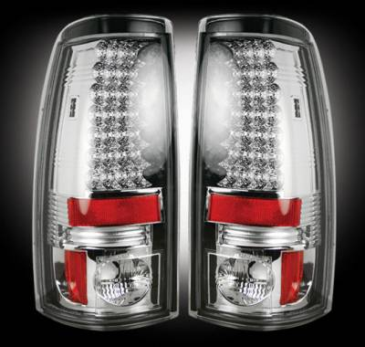 "Lighting - Tail Lights - Recon Lighting - Chevy Silverado & GMC Sierra 99-07 (Fits 2007 ""Classic"" Body Style Only) LED TAIL LIGHTS - Clear Lens"