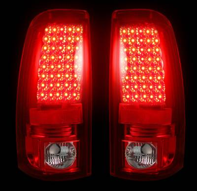 "Recon Lighting - Chevy Silverado & GMC Sierra 99-07 (Fits 2007 ""Classic"" Body Style Only) LED TAIL LIGHTS - Red Lens - Image 2"