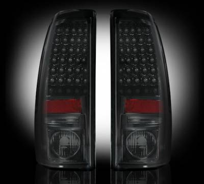 "Lighting - Tail Lights - Recon Lighting - Chevy Silverado & GMC Sierra 99-07 (Fits 2007 ""Classic"" Body Style Only) LED TAIL LIGHTS - Smoked Lens"