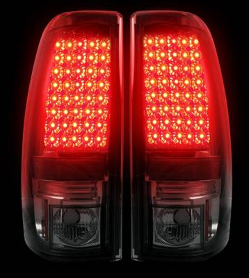 "Recon Lighting - Chevy Silverado & GMC Sierra 99-07 (Fits 2007 ""Classic"" Body Style Only) LED TAIL LIGHTS - Smoked Lens - Image 2"