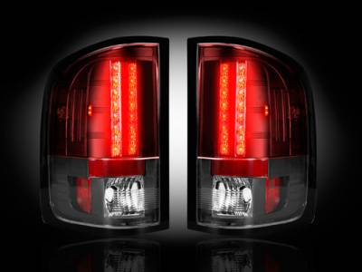 Recon Lighting - Chevy Silverado 07-13 1500 (2nd GEN Single-Wheel & 07-14 Dually) & GMC Sierra 07-14 (Dually Only) 2nd GEN Body Style LED TAIL LIGHTS - Red Lens - Image 2