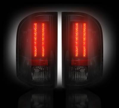 Recon Lighting - Chevy Silverado 07-13 1500 (2nd GEN Single-Wheel & 07-14 Dually) & GMC Sierra 07-14 (Dually Only) 2nd GEN Body Style LED TAIL LIGHTS - Smoked Lens - Image 2