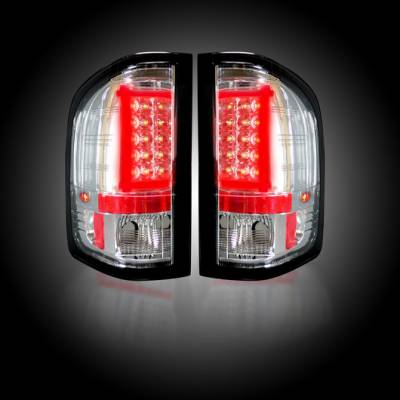 Recon Lighting - Chevy Silverado 07-13 1500 (2nd GEN Single-Wheel & 07-14 Dually) & GMC Sierra 07-14 (Dually Only) 2nd GEN Body Style OLED TAIL LIGHTS - Clear Lens - Image 2