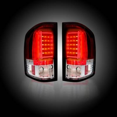 Recon Lighting - Chevy Silverado 07-13 1500 (2nd GEN Single-Wheel & 07-14 Dually) & GMC Sierra 07-14 (Dually Only) 2nd GEN Body Style OLED TAIL LIGHTS - Red Lens - Image 2