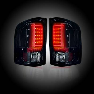 Recon Lighting - Chevy Silverado 07-13 1500 (2nd GEN Single-Wheel & 07-14 Dually) & GMC Sierra 07-14 (Dually Only) 2nd GEN Body Style OLED TAIL LIGHTS - Smoked Lens - Image 2