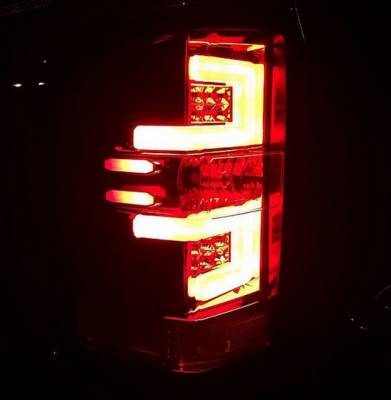 Recon Lighting - Chevy Silverado 14-17 1500/2500/3500 (Fits 3rd GEN All Body Styles Chevy Silverado & GMC Sierra 15-17 Dually ONLY) LED TAIL LIGHTS - Red Lens - Image 3
