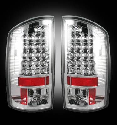 Lighting - Tail Lights - Recon Lighting - Dodge 02-06 RAM 1500 & 03-06 RAM 2500/3500 LED Tail Lights - Clear Lens