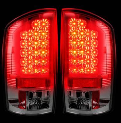 Recon Lighting - Dodge 02-06 RAM 1500 & 03-06 RAM 2500/3500 LED Tail Lights - Clear Lens - Image 2