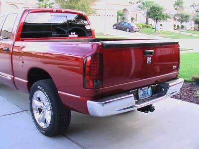 Recon Lighting - Dodge 02-06 RAM 1500 & 03-06 RAM 2500/3500 LED Tail Lights - Dark Red Smoked Lens - Image 3