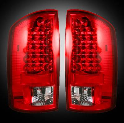 Lighting - Tail Lights - Recon Lighting - Dodge 02-06 RAM 1500 & 03-06 RAM 2500/3500 LED Tail Lights - Red Lens