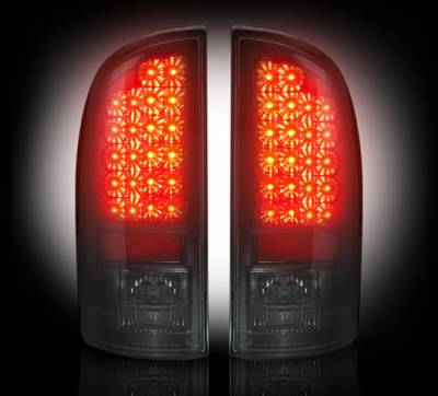Recon Lighting - Dodge 02-06 RAM 1500 & 03-06 RAM 2500/3500 LED Tail Lights - Smoked Lens - Image 2
