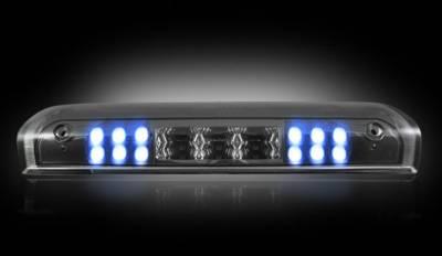 Recon Lighting - Dodge 02-08 RAM 1500 & 03-09 RAM 2500/3500 - Red LED 3rd Brake Light Kit w/ White LED Cargo Lights - Smoked Lens - Image 3