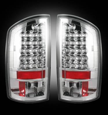 Lighting - Tail Lights - Recon Lighting - Dodge 07-08 RAM 1500 & 07-09 RAM 2500/3500 LED TAIL LIGHTS - Clear Lens