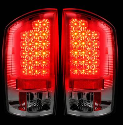 Recon Lighting - Dodge 07-08 RAM 1500 & 07-09 RAM 2500/3500 LED TAIL LIGHTS - Clear Lens - Image 2