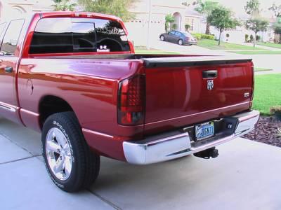 Recon Lighting - Dodge 07-08 RAM 1500 & 07-09 RAM 2500/3500 LED TAIL LIGHTS - Dark Red Smoked Lens - Image 3