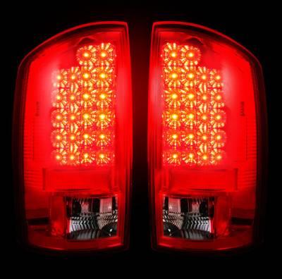 Recon Lighting - Dodge 07-08 RAM 1500 & 07-09 RAM 2500/3500 LED TAIL LIGHTS - Red Lens - Image 2