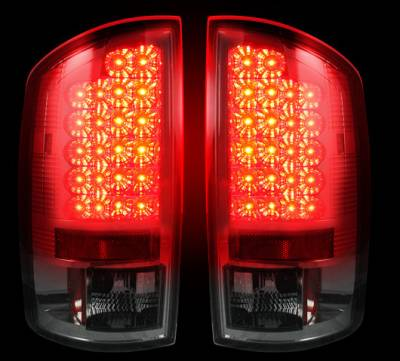 Recon Lighting - Dodge 07-08 RAM 1500 & 07-09 RAM 2500/3500 LED TAIL LIGHTS - Smoked Lens - Image 2