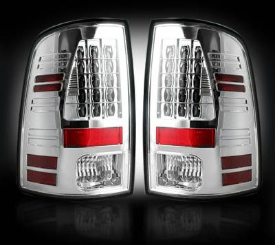 Recon Lighting - Dodge 09-14 RAM 1500 & 10-14 RAM 2500/3500 (Replaces Factory OEM Halogen Tail Lights) - Clear Lens - Image 1
