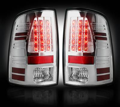 Recon Lighting - Dodge 09-14 RAM 1500 & 10-14 RAM 2500/3500 (Replaces Factory OEM Halogen Tail Lights) - Clear Lens - Image 2