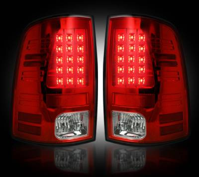Recon Lighting - Dodge 09-14 RAM 1500 & 10-14 RAM 2500/3500 (Replaces Factory OEM Halogen Tail Lights) - Red Lens - Image 2