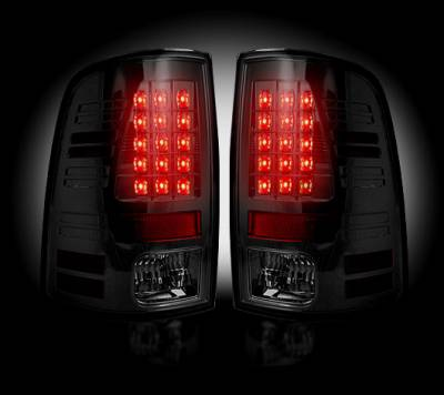 Recon Lighting - Dodge 09-14 RAM 1500 & 10-14 RAM 2500/3500 (Replaces Factory OEM Halogen Tail Lights) - Smoked Lens - Image 2