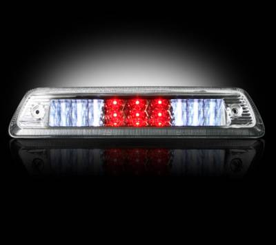 Recon Lighting - Dodge 09-15 RAM 1500 & 10-15 RAM 2500/3500 - Red LED 3rd Brake Light Kit w/ White LED Cargo Lights - Clear Lens - Image 2