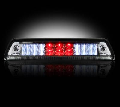 Recon Lighting - Dodge 09-15 RAM 1500 & 10-15 RAM 2500/3500 - Red LED 3rd Brake Light Kit w/ White LED Cargo Lights - Smoked Lens - Image 2
