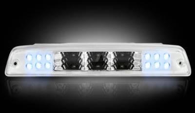Recon Lighting - Dodge 94-01 RAM 1500 & 94-02 RAM 2500/3500 - Red LED 3rd Brake Light Kit w/ White LED Cargo Lights - Clear Lens - Image 2