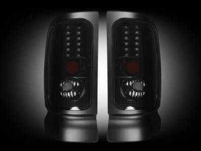 Lighting - Tail Lights - Recon Lighting - Dodge 94-01 RAM 1500 & 94-02 RAM 2500/3500 - Smoked Lens