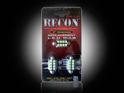 Lighting - Accent Lighting & Accessories  - Recon Lighting - Dodge Dome Light Set LED Replacement - Fits Dodge RAM 02-08 1500 & 03-09 2500/3500