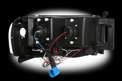 Recon Lighting - Dodge RAM 02-05 1500/2500/3500 PROJECTOR HEADLIGHTS - Clear / Chrome - Image 3