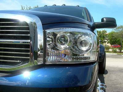 Recon Lighting - Dodge RAM 06-08 1500 & 06-09 2500/3500 PROJECTOR HEADLIGHTS - Clear / Chrome - Image 3