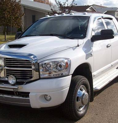 Recon Lighting - Dodge RAM 06-08 1500 & 06-09 2500/3500 PROJECTOR HEADLIGHTS - Clear / Chrome - Image 4