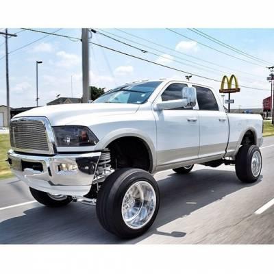 Recon Lighting - Dodge RAM 09-13 1500 & 10-14 2500/3500 PROJECTOR HEADLIGHTS w/ CCFL HALOS & DRL - Smoked / Black - Image 2