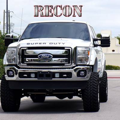 Recon Lighting - Ford 08-16 SUPERDUTY Raised Logo Acrylic Emblem Insert 3-Piece Kit for Hood, Tailgate, & Interior - BLACK - Image 4