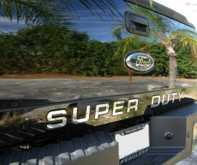 Recon Lighting - Ford 08-16 SUPERDUTY Raised Logo Acrylic Emblem Insert 3-Piece Kit for Hood, Tailgate, & Interior - CHROME - Image 4