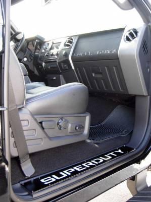 Recon Lighting - Ford 08-16 SUPERDUTY Raised Logo Acrylic Emblem Insert 3-Piece Kit for Hood, Tailgate, & Interior - CHROME Tailgate - BLACK Front - CHROME Interior - Image 4
