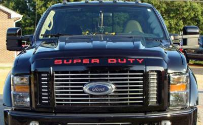 Recon Lighting - Ford 08-16 SUPERDUTY Raised Logo Acrylic Emblem Insert 3-Piece Kit for Hood, Tailgate, & Interior - RED - Image 4
