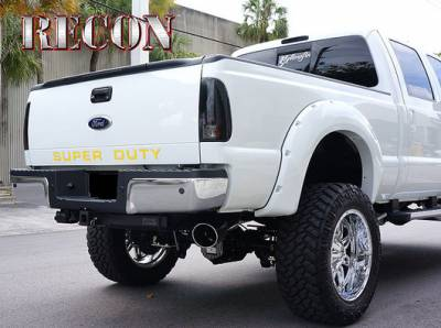 Recon Lighting - Ford 08-16 SUPERDUTY Raised Logo Acrylic Emblem Insert 3-Piece Kit for Hood, Tailgate, & Interior - YELLOW - Image 2