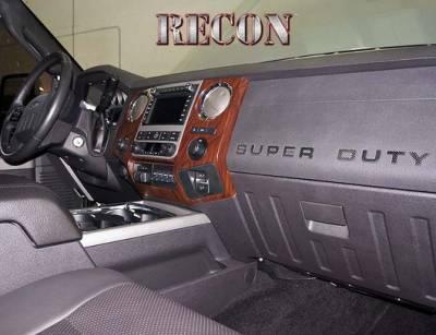 Recon Lighting - Ford 08-16 SUPERDUTY Raised Logo Carbon Fiber Emblem Insert 3-Piece Kit for Hood, Tailgate, & Interior - CARBON FIBER - Image 3