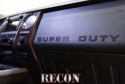 Recon Lighting - Ford 08-16 SUPERDUTY Raised Logo Carbon Fiber Emblem Insert 3-Piece Kit for Hood, Tailgate, & Interior - CARBON FIBER - Image 5