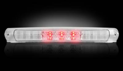 Recon Lighting - Ford 97-03 F150 & F250LD Light-Duty & Ford 00-04 Excursion - Red LED 3rd Brake Light Kit w/ White LED Cargo Lights - Clear Lens - Image 2