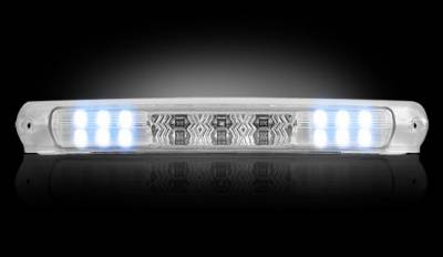 Recon Lighting - Ford 97-03 F150 & F250LD Light-Duty & Ford 00-04 Excursion - Red LED 3rd Brake Light Kit w/ White LED Cargo Lights - Clear Lens - Image 3