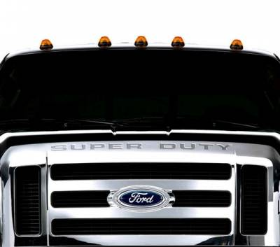 Recon Lighting - Ford 99-16 Superduty (5-Piece Set) Amber Cab Roof Light Lenses Only & Amber Xenon Bulbs - Image 2