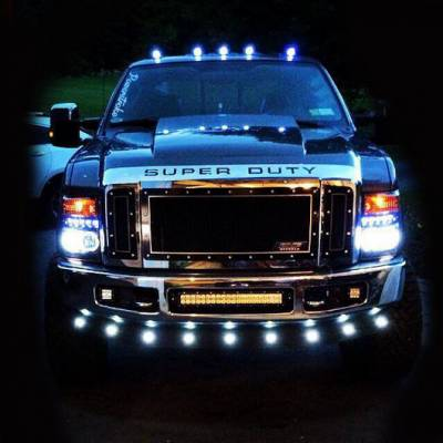 Recon Lighting - Ford 99-16 Superduty (5-Piece Set) Clear Lens with White LED's - Complete Cab Light Kit with all wiring & hardware - Image 4