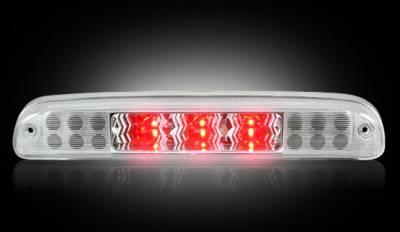 Recon Lighting - Ford 99-16 Superduty F250HD/350/450/550 & 95-03 Ranger & Ford Explorer Sport Trac 01-05 - Red LED 3rd Brake Light Kit w/ White LED Cargo Lights - Clear Lens - Image 2